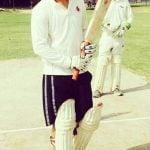 Babbal Rai playing cricket