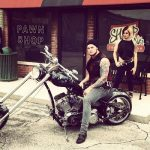 Biker Baron Corbin with his custom Bomber 1600