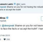 Dia Mirza Meenakshi Lekhi twitter fight