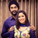 Harshdeep Kaur with her husband Mankeet Singh