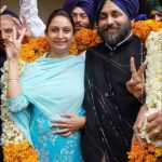 Harsimrat with her Husband Sukhbir Singh Badal