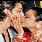 Hrithik Roshan Rekha accidental liplock