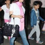 Juhi Chawla with her children