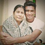 Mahmudullah with his mother