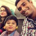 Mahmudullah with his wife and son