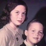 Mary Tyler Moore with her younger brother, John