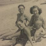 Mary Tyler Moore with her parents and younger brother, John