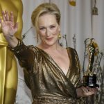 Meryl Streeps receiving Oscar