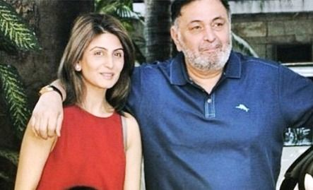 Rishi Kapoor With his daughter Riddhima