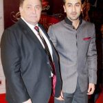 Rishi Kapoor With his son Ranbir Kapoor