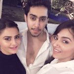 Roop Sidhu with her brother and sister
