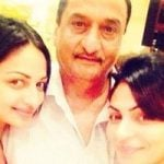 Rubina Bajwa with her father and sister Neeru Bajwa