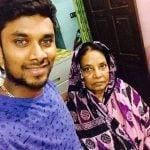 Sabbir Rahman and his mother
