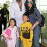 Manyata Dutt with her husband and children Shahraan and Iqra