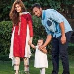 Shakib Al Hasan wife Umme Ahmed Shishir and Daughter Alayna Hasan Aubrey