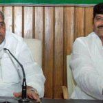 Shivpal Yadav with Mulayam Singh