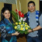 Sunidhi Chauhan with her father Dushyant Kumar Chauhan