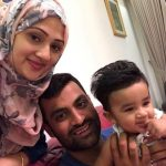 Tamim Iqbal with his Wife and Son