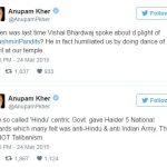 Vishal Bhardwaj Anupam Kher controversy