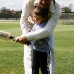 Young Jonny with his father David