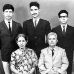 Young Naseeruddin Shah (left) with his parents and brother