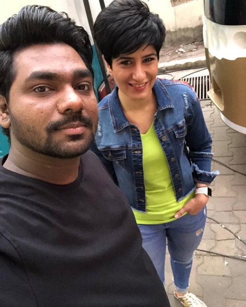 Zakir Khan with Neeti Palta