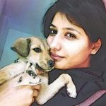 Zenith Sidhu with her pet dog