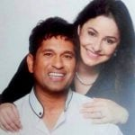 Anjali Tendulkar with her husband Sachin Tendulkar