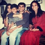 Young Arjun Kanungo with his mother (extreme right)