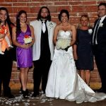 From left to right: Brother Bo Dallas, Sister in law Sarah, Bray Wyatt, Wife Samantha, Mother Stephanie, Father Mike Rotunda (aka IRS)