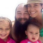 Bray Wyatt with his wife and daugthers