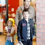 Casey Affleck with his sons