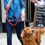 Emma Stone with her dog Ren