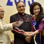 Geetanjali Thapa receiving National Award for Liars Dice