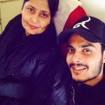 Gurnazar Chattha with his mother