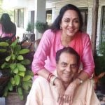 Dharmendra with his Second Wife Hema Malini