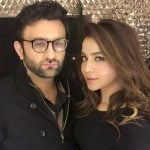 Humaima Malick with her brother Asad Khan
