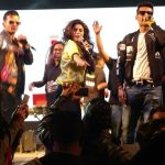 Khushboo Grewal with Meet Bros (singing)