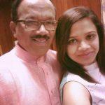 Laxmikant Parsekar with his daughter Shambhavi Parsekar