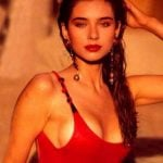 lisa-ray-in-a-red-baywatch-swimsuit