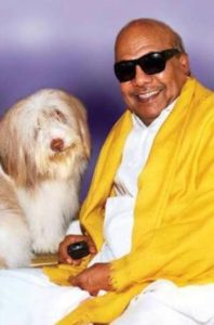 M Karunanidhi, A Dog Lover