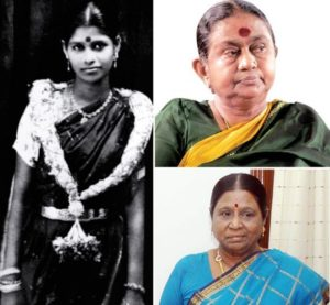 M Karunanidhi Wives (Clockwise - From Left) Padmavathi, Dayalu, Rajathi