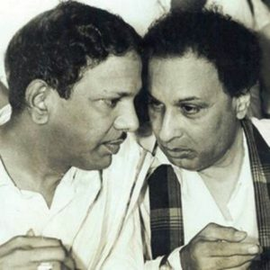 M Karunanidhi (left) And MG Ramachandran (right)
