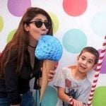 Mahira Khan with her son Azlaan