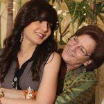 Manhoor with her mother