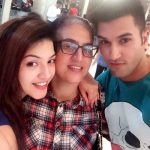 Mehreen Pirzada with her mother and brother