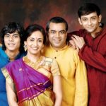 paresh-rawal-with-his-wife-and-sons