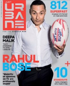Rahul Bose on the cover of the Just Urbane Magazine