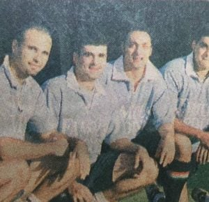 Rahul Bose with 1999 Indian Rugby Team