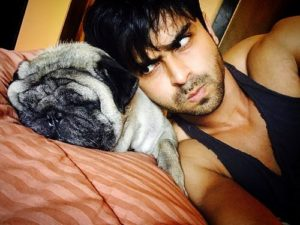 Shoaib Ibrahim loves dogs